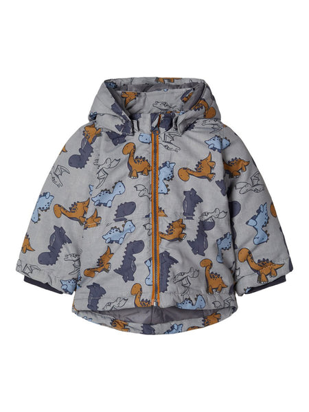 BabyBoy Dino Print Winter Jacket