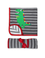 Organic T-Rex Applique blanket