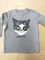 MiniBoy Cat Applique Top