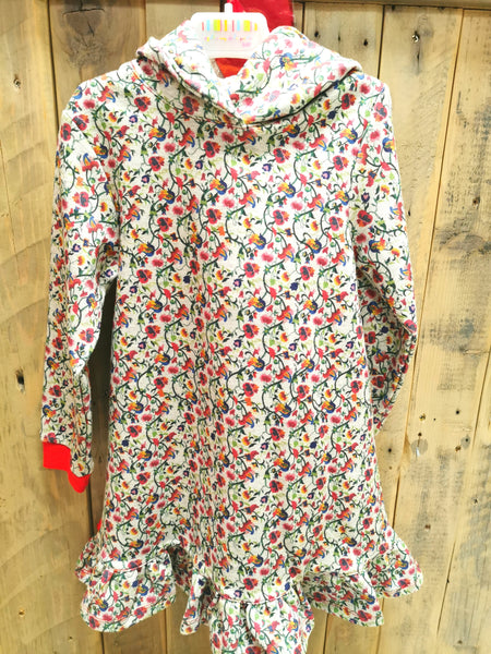 Floral Sweat Dress with tights