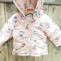 BabyGirl Mouse Print Winter Jacket