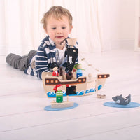 BIGJIGS Mini Pirate Playset