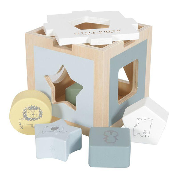 Little Dutch Wooden Shape Sorter Zoo Blue