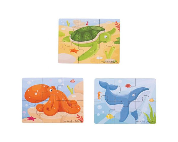 BIGJIGS Six Piece Puzzles (More Options)