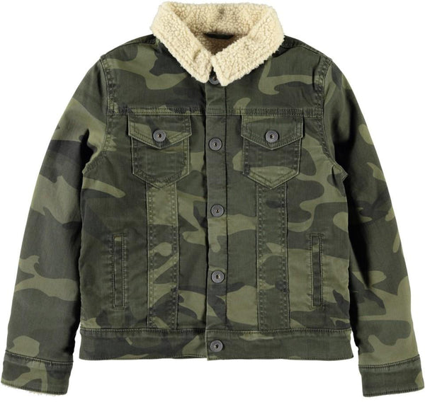 KidBoy Camo Jacket with Teddy Collar and Lining