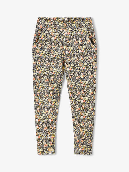 Kid Girl Floral Print Trouser