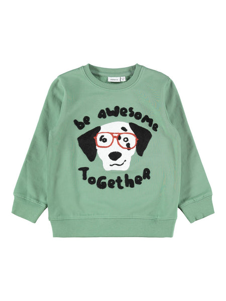 MiniBoy Dog Applique Sweatshirt