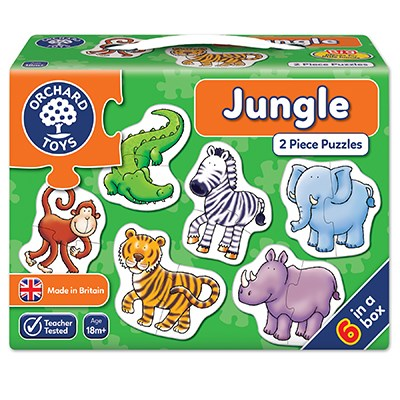Jungle 2 Piece Jigsaw Puzzle
