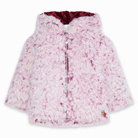 Soft pile parka for girls