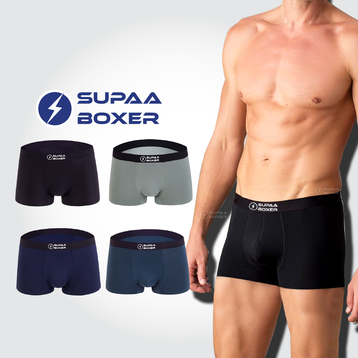 SUPAA Men's Trunks [4pcs in a pack]