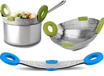 Stainless Steel Collapsible Colander Strainer and Fruit Basket – Swipe Happy