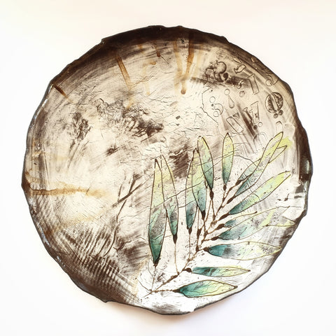 Large Leaf Platter (40 cm diameter) - Nada Spencer Ceramics