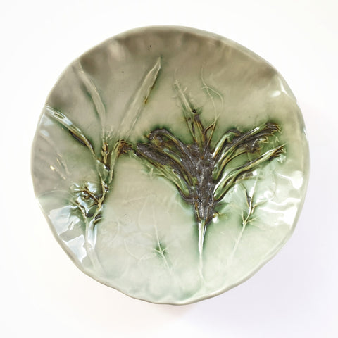 Jewellery Bowl Botanical texture - Nada Spencer Ceramics