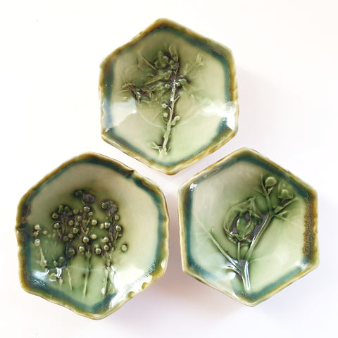 Hexagon Small Bowl Set of 3 - Nada Spencer Ceramics