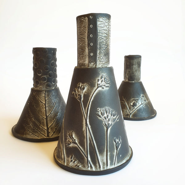 Funnel Vase Set of 3 - Nada Spencer Ceramics