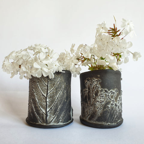 Cylinder Vase Set of 2 - Nada Spencer Ceramics