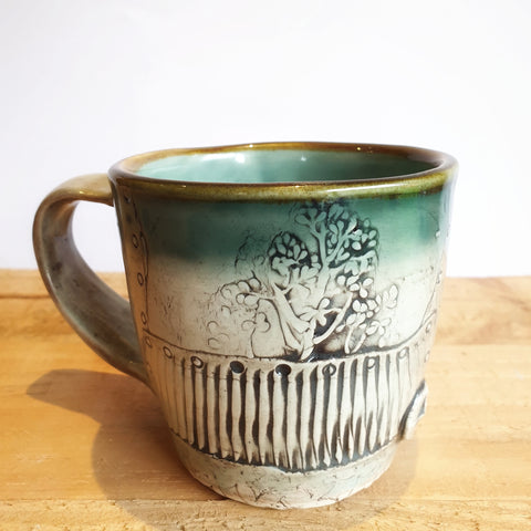 Botanical Coffee Mug (8.5 cm high, 250ml) - Nada Spencer Ceramics