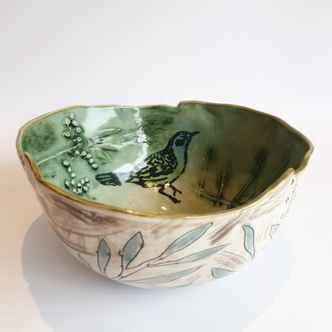 Celadon blue/green Bowl (21cm diameter & 9,5cm height) - Nada Spencer Ceramics