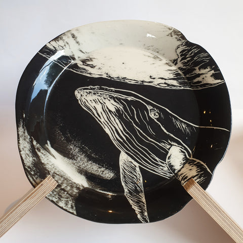 Whale Plate (24cm diameter) - Nada Spencer Ceramics