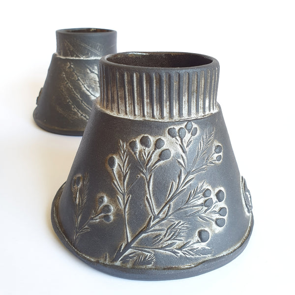 Funnel Vase Set of 4 small (12cm Height) - Nada Spencer Ceramics