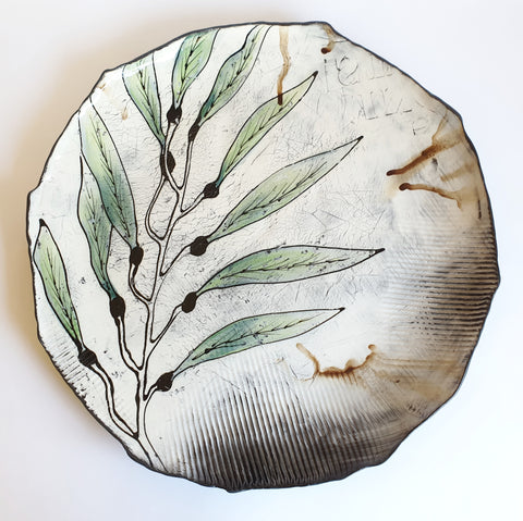 Large Leaf Platter (38 cm diameter) - Nada Spencer Ceramics