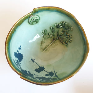 Small Celadon blue/green Bowl  (18 cm diameter) - Nada Spencer Ceramics