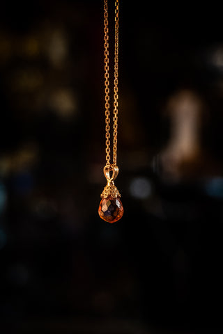 Sterling silver necklace with Zultanite stone & rose gold plating