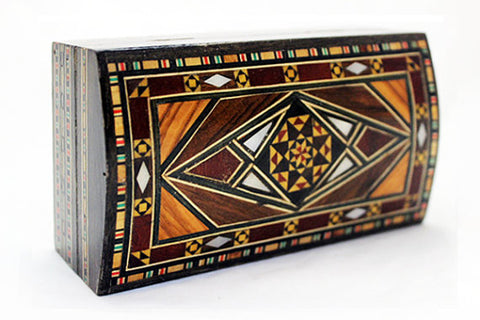 Syrian Mosaic Box with Wood & Mother of Pearl Inlaid Pieces