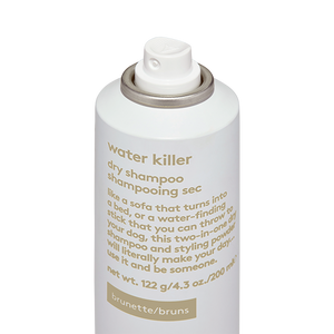water killer brunette dry shampoo.