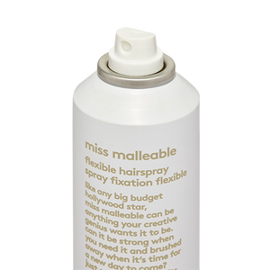 miss malleable flexible hairspray.