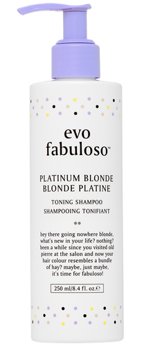 fabuloso - platinum blonde toning shampoo 250ml.