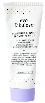 platinum blonde colour boosting treatment.