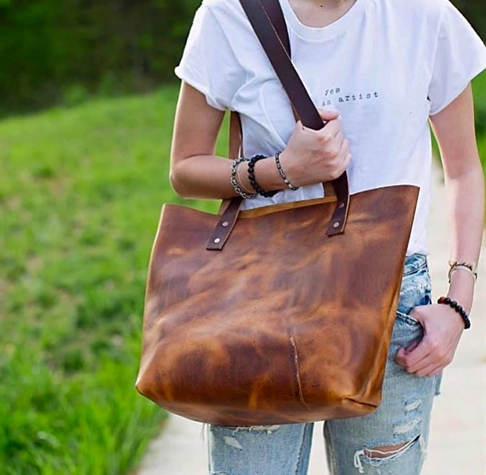 English Tan Harvest Large Tote
