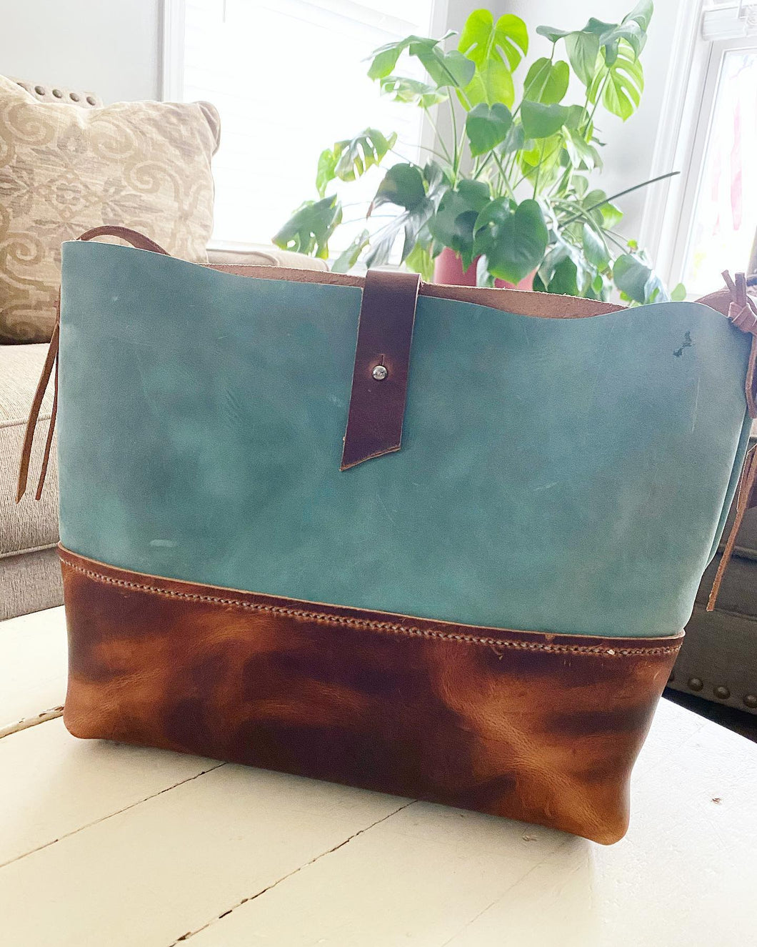 Light Blue Two-Toned Jes Bag