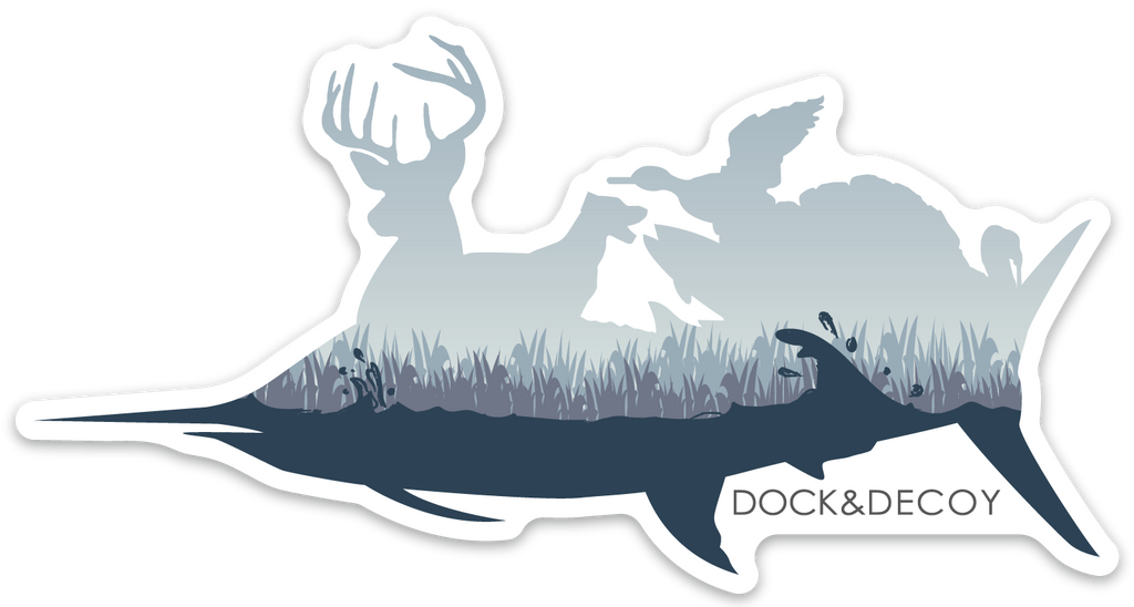 Dock Decoy Sportsman Sticker