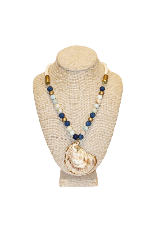 Oyster on the Line Necklace