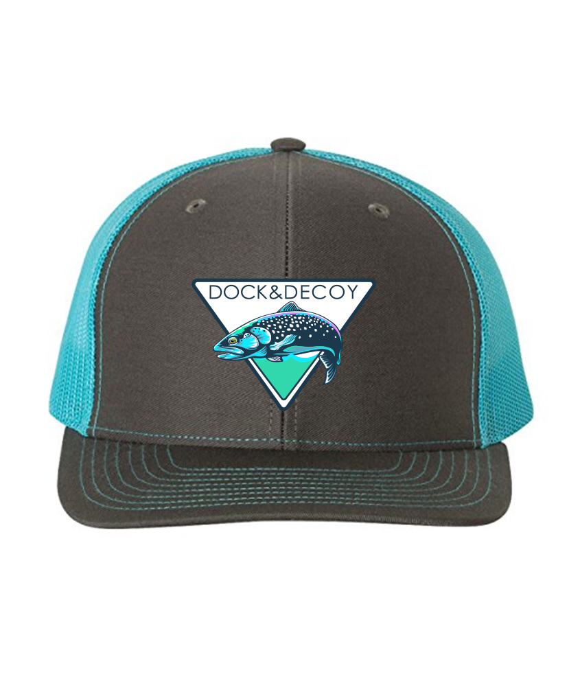 Lucky Rainbow Trout Hat charcoal teal