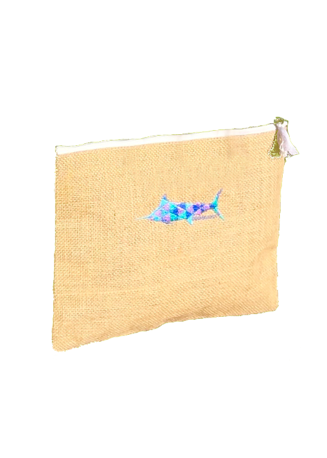 Dock & Decoy Burlap Clutch
