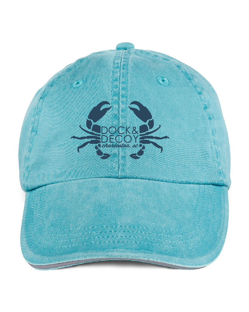Dock Decoy Crab Hat teal