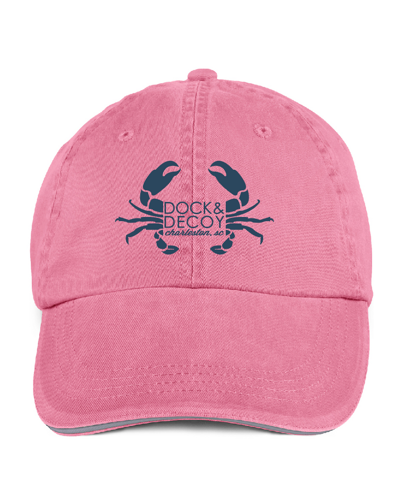 Dock Decoy Crab Hat pink