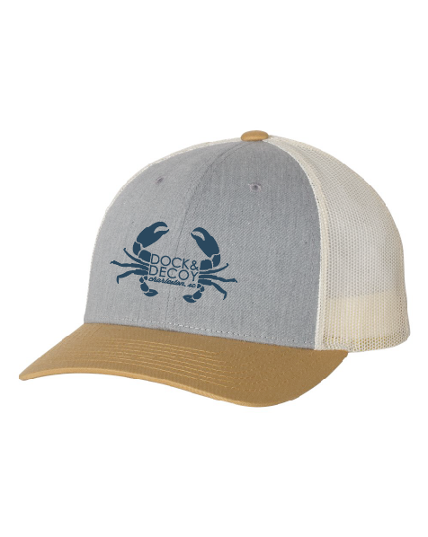 Dock Decoy Crab Hat Amber Gold