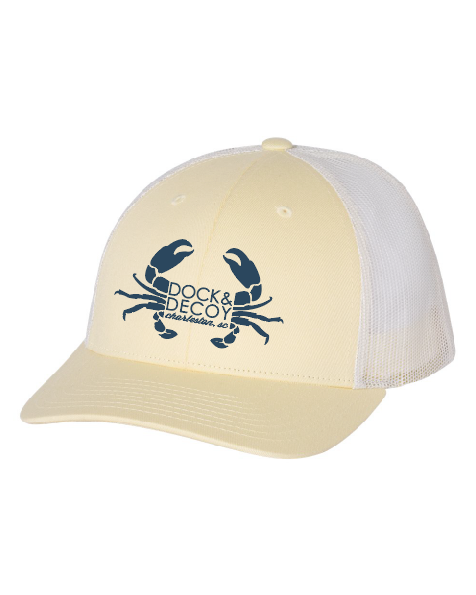 Dock Decoy Crab Hat yellow