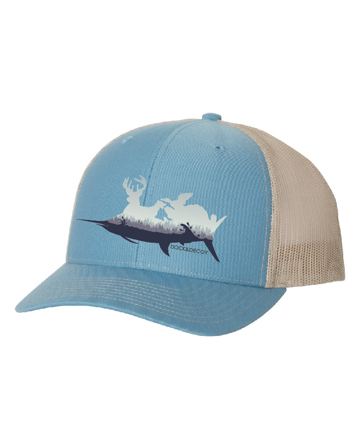 Dock Decoy Sportsman Hat blue tan