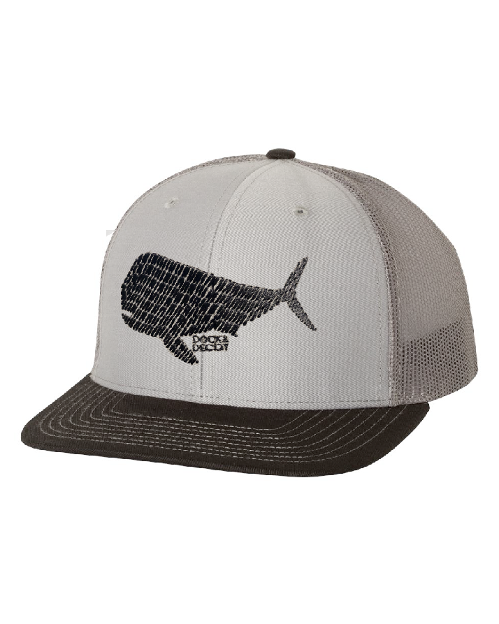 Dock Decoy Dolphin Mahi Hat Gray