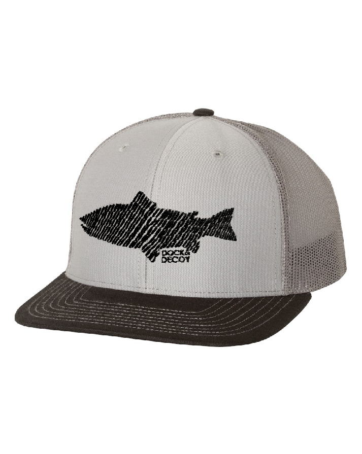 Dock Decoy Trout Hat Gray