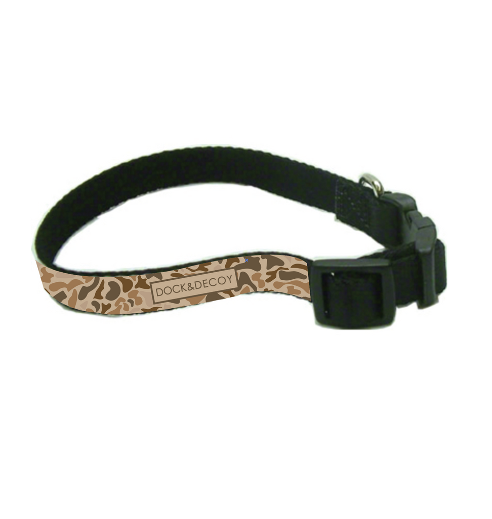 dock decoy camo dog collar