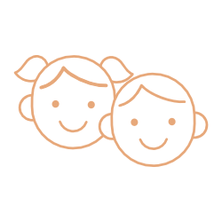 Icon of boy and girl