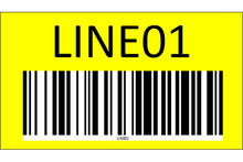 Load image into Gallery viewer, Wall mount sign with barcode - one side