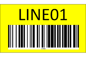 Wall mount sign with barcode - one side