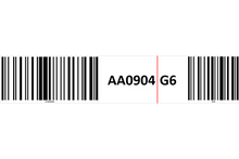 Load image into Gallery viewer, Magnetic rack barcode with check digit barcode